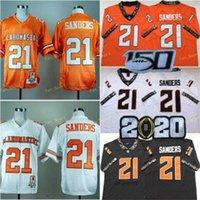 NCAA Oklahoma Staat Cowboys # 21 Barry Sanders College Football Trikots Nähed Weiß Orange