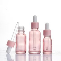 10ml 20ml 30ml Pink Glass Dropper Bottle Essential Oil Liquid Reagent Pipette Bottles Cosmetics Packaging Containers