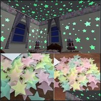 Décor & Garden100 Pcs Home Glow In The Dark Stars Stickers Planet Wall Decor Stick On Space Ceiling Decoration 3D Luminous 3Cm Drop Delivery