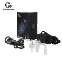 Greenlightvapes G9 Tick Enaille V2 Portable TC Hybrid Quartz Banger Cap DAB Cap DAB Rigital Cire à ongles Vaporisateur Vape Kit en gros