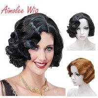 Heartyles Flapper de Aimoree 1920 peruca para mulheres onda de dedo retro estilo curto peruca sintética cosplay
