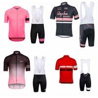 Rapha Custom Made Comfort Comfort Manica corta Bikin Shorts traspirante Jersey sportivo Set da ciclismo Maniche corte Jersey Bib Shorts Set S75