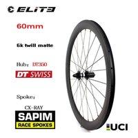 자전거 바퀴 700C 자전거 휠 Sapim CX-Ray 스포크 60mm 6K 능직 매트 림 DT 스위스 350 탄소 섬유 도로 휠셋