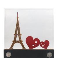 Dekorative Objekte Figuren Omoshiroi Block DIY Klebrige Anmerkung 3D Papier Memo Pad Eiffelturm Modell Notepad Acryl Neuheit Geschenk Hochzeit Par