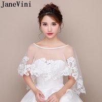 Wraps & Jackets JaneVini 2021 White Lace Girls Bolero Bridal Cape Wrap Mariage Coprispalle Donna Estivo Women Shrug For Wedding Dress Summer