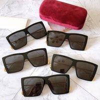 الكلاسيكية ساحة المرأة مصمم النظارات الشمسية 0434S occhiali دا الوحيد firmati الأسود الإطار المعادن المعادن تصميم uv400 عدسة مكافحة الإشعاع 0434 أعلى جودة