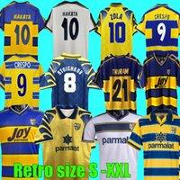 95 96 97 98 99 00 01 02 03 Retro Parma Soccer Jerseys Calcio Buffon 1995 1998 1998 1998 1998 1999 2000 2002 2003ヴィンテージパルマフットボールシャツキットStoichkov