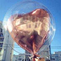20''24''36 '' Şeffaf Küre Temizle Balon Helyum Şişme Bobo Balonlar Düğün Doğum Günü Bebek Duş Dekorasyon 712 V2