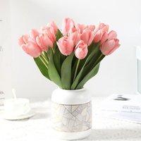 زهرة اصطناعية متعددة الاستخدامات مشرق اللون فو الحرير محاكاة التقطيع عرض الهدايا إسقاط إكليل الزهور الزخرفية