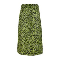 Skirts JAYCOSIN Women's Fashion Summer Sexy Open Cross Printed Half-Length Leopard Print Skirt High Waist Vintage A Line