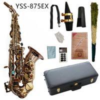 YSS-875EX ساكسفون سوبرانو ب شقة الفوسفور برونزية المواد مع حالة الفطريات القصب بالرقبة الملحقات الآلات الموسيقية
