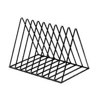Hooks & Rails Magazine Rack Book Record Holder, Desktop Iron Storage Bookshelf Multifunction Triangle File Organizer Decor Home Office