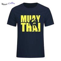 여름 패션 Muay 태국 태국 복서 티셔츠 남자 괴짜 homme 티 멋진 기차 티셔츠 플러스 크기 210707