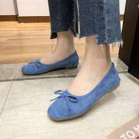 Sandalo Fashion Round Testa DOODOU Bordo piatto Incinto Lefu Bow Tie Twow Bocca Versatili Pigri Singola scarpe singole