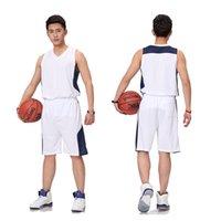 Erkekler Basketbol Forması Setleri Spor Kiti Giyim Ter Emici Nefes Basketbol Jersey Kolsuz Gömlek Şort Takım 5XL