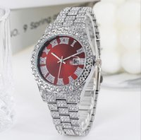 Venta al por mayor de fábrica de negocios casuales elegantes mujeres relojes brillantes lentes relojes estrellas diamante fecha batería de cuarzo numero romano relojes de pulsera delicado regalo