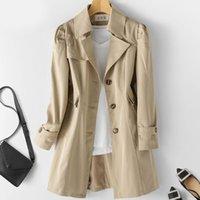 Women's Trench Coats Spring Autumn Coat OL Ladies Woman Long Women Windbreakers Plus Size Femme 5xl