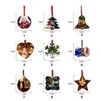 Nieuwe 2022 DHL Sublimatie Blanco Kerst Ornament Dubbelzijdig Xmas Tree Hanger Multi Shape Aluminium Plaat Metalen Opknoping Tag Holidays Decoratie Craft CO14