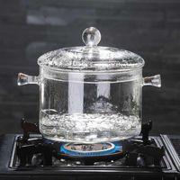 Glass Pasta Noodles Bowl Heat Resistant Borosilicate Saucepan Microwave Dishwasher Safe For Soup Baby DNJ998 Wine Glasses