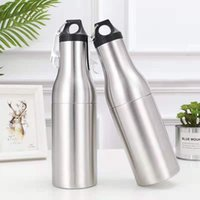 Water Bottles 12oz Beer Bottle Cooler Double Wall Insulated Stainless Steel Tumbler With Opener
