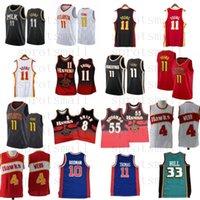 Trae 11 Young Dikembe 55 Mutombo Pete 44 Maravich 8 Smith Basketball Jersey Mens Grant 33 Hill Isiah Thomas Dennis 10 Rodman Shirt