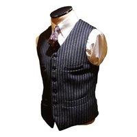 Men's Vests Blazer Stripe Tweed Vest Sleeveless Jacket Groom's Tight Wedding Waistcoat Latest Designer Gilet Retro Casual Cosplay