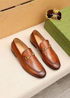 2021 Mens Fashion Genuine Leather Slip-on Oxfords Men Business Office Work Formal Dress Shoes Brand Designer Party Wedding Flat Shoes Size 38-45