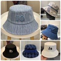 Mens Fashion Bucket Chapeau Caps Caps Chapeaux Femmes Broderie Lettre Denim Summer Fisherman Beach Cap Bonnette Sun Casquette