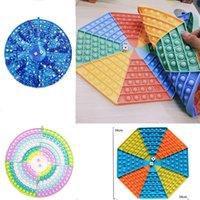 Decompression Giant Push it Fidget Toys Finger big Bubbles Sensory Silicone Puzzles Board Kids Fingers Penguin Fun Squeezy Squeeze Desk Toy DHL 34CM