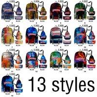 Van Gogh 13 estilos Backpack Bolsa de charuto Mochila de tecido de Oxford 3 pçs / set backwood printbag laptop ombro schoolbag DHL