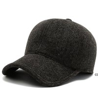 Winter new cotton basball stitching men's autumn and winter cap warm cold-proof ear protection hat DHE9851