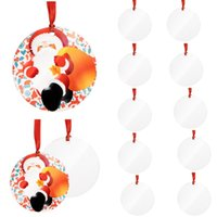 2021 Sublimation Blank Pendant Blank Christmas Ornament Customized Tree Decorations DIY Personalized Blank Wooden Christmas Pen
