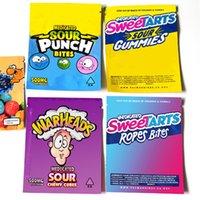 Warheads Budheads Gasheads bag packaging Sour Puch Sweetarts Gummies Rope Bites edibles empty zipper mylar bags