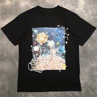 Rua Moda Mens Camiseta 2020 Urso Padrão Starry Polo Polo Pullover Tênis Tênis T Camisetas Homens Mulheres Casal Elegante de Alta Qualidade