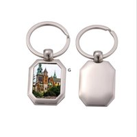 13 Styles Sublimation blank keychain metal key ring Party Fa...