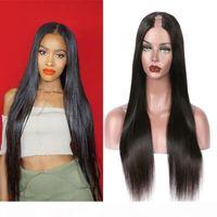 Virgin Brasilian Upart Partys Setky Straight Glueless U Parte Parrucca PRE PILUCKED Glueless Cheap U Parte Parrucche per capelli umani per le donne nere