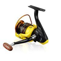 Metal Línea de peces Rueda Reluera Spinning Reels HD1000-7000 Ruedas de Pole de Mar Pesca Recipiente Amarillo Negro 31ZH Y2