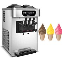 Trois arômes Crème glacée pour les boutiques de boissons froides Bureau commercial Fabrication de machines à faible bruit