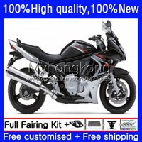 Moto Verklei voor Suzuki Katana GSXF 650 GSXF-650 GSX 650F 08-14 29NO.7 GSX650F Black Silvery 08 09 10 11 12 13 14 GSX-650F GSXF650 2008 2009 2010 2011 2012 2013 2014 Bodys