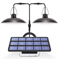 Solar Lamps Light LED Lamp With Panel Hanging For Indoor Outdoor Lighting 9.8FT Cord Sunlight Pendant Ceiling Porch
