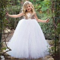 Girl's Dresses Flower Girl For Wedding Custom Made Pageant Gown Sleeveless And Appliques Party