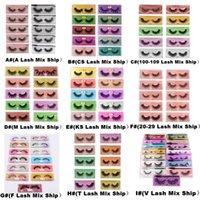 3D Mink Eyelashes Atacado Estilo Mix Soft Natural Faux Hair Falso Falso Olho Olho Lashes Extensão Maquiagem Tools 8 tipos de série para opcional