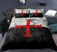 Bedding Sets Cross 3D Printing Quilt Cover Bed Three Piece Set Children's Bedroom Supplies Cartoon Pillow Case