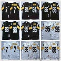 NCAA Vintage Retro 7 Ben Roethlisberger Jersey 95 Greg Lloyd 84 Antonio Brown 86 Hines Ward 88 Lynn Swann Football Jerseys
