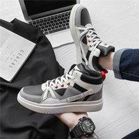 2021 весенние мужские туфли младшие школы студенты ряд растущие доски корейский стиль модный высокий верхний спортивный отдых баскетбол f