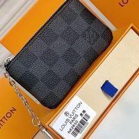 """Tasarımcılar Lüks Çantalar Anahtar Kılıfı Pochette Cles Kadın Erkek Anahtarlık Kredi Kartı Tutucu Sikke Çantalar Mini Cüzdan ÇantaLV """"Louis"""" Vitton Vutton"""