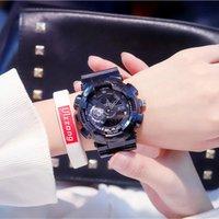 Losida Kauçuk Kuvars Saatler Erkekler Moda LED Dijital İzle Altın Su Geçirmez Spor Askeri Ordusu S Relojes Hombre Saatı
