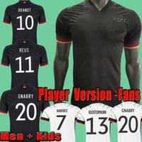 2021 플레이어 버전 독일 Allemagne 축구 유니폼 팬들 꿀벌 Kroos 축구 셔츠 20 21 Draxler Reus Jersey Muller Gotze Camisas Alemania Men + Kids Kits