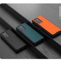 초박형 전화 커버 보호 케이스 Galaxy Z fold2 모바일 셀 복구 도구 용 올 인 클루 시브 가죽 쉘