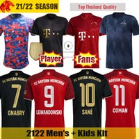 21 22 FC Bayern Munich soccer jerseys LEWANDOWSKI 2021 2022 COMAN Fans Player Version SANE MUSIALA MULLER DAVIES football shirt CHOUPO-MOTING Mens Jersey Kids kit